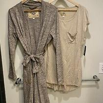 Ugg Australia Womens Set Size M Robe and Matching Sleepwear Top Photo