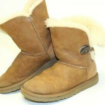 Ugg Australia Womens Size 5 36 Bailey Button Suede Shearling Flat Boots 5803 Photo