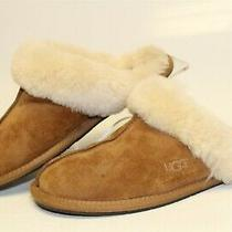 Ugg Australia Womens Size 7 38 Scuffette Ii Suede Shearling Flat Slippers 5661 Photo