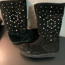 Ugg Australia Womens Studded Shearling Lined Knee High Boots Black Suede Size 11 Photo