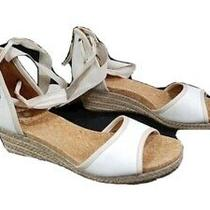 Ugg Australia Womens Tan/beige/white Ankle Tie Strap Espadrille Sandals Size 8 Photo