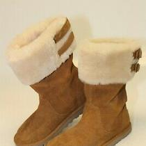 Ugg Australia Youth Girls Size 3 33 Aleyah Big Kid Shearling Tall Boots 1006055k Photo