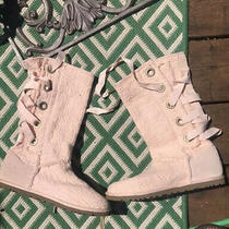 Ugg Australian Heirloom Pink Lace Up Boots Womens Size 7 Photo