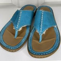 Ugg Australian Suede Turquoise Leather Shearling Thong Sandals Flip Flops Size 8 Photo