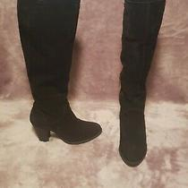 Ugg Ava Shearling Lined Black Suede Boots Size Us 6 Womens - Very Good Condition Photo