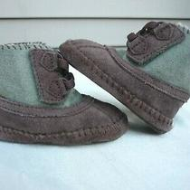 Ugg Baby Booties sz.2/3 - Suede Infants Kids Shearling Shoes Boots Warm  Photo