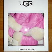 Ugg Baby Girls Trapper Mittens & Hat Set Shearling Sheepskin Toddler 2t-4t Nib Photo