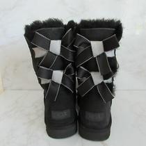 Ugg Bailey Bow Ii Shimmer Black Women's Boots Sz 9 Photo
