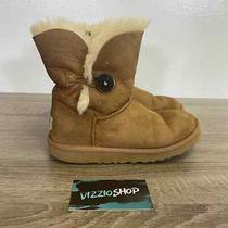 Ugg - Bailey Button Brown Cream Boots - Youth 2 - 5991 Photo