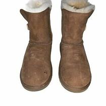 Ugg Bailey Button Girls Chestnut Boots Size 6 Photo