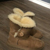 Ugg Bailey Button Girls Boot for Size 3 Chestnut Photo