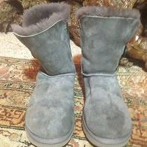Ugg Bailey Button Shot S/n  5803 Ladies Boots Size 8 Us Gray Photo