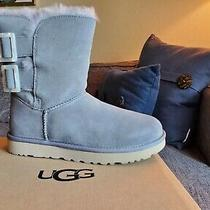 Ugg Bailey Fashion Buckle Soft Amethyst Suede Sheepskin Women's Boots Us Size 9 Photo