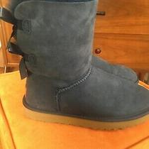 Ugg Baily Bow Ii Boots Navy Blue Women's Size 7 Photo
