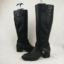 Ugg Bandera Black Leather Knee High Boots Women's Size 5 Us Photo