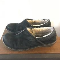 Ugg Bettey 9 Shoes Black Sheepskin Suede Slippers Slip on Clogs Comfort Womens Photo