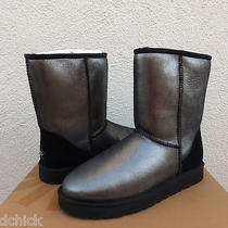 Ugg Black Classic Short Glitter Boots Us 8/ Eur 39/ Uk 6.5 New in Box Photo