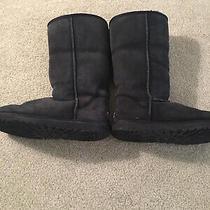 Ugg Black Classic Tall Sheepskin Fur Womens Size 6 Boots - Style 5815 Photo