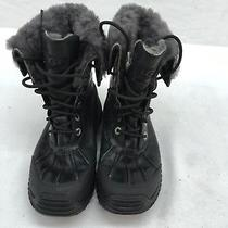 Ugg Black Combat Winter Boots Size 5.5 Oos F1414 Photo