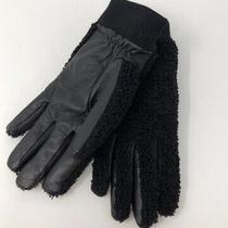 Ugg Black Faux Sherpa Tech Gloves Women Sz L/xl Run Small 75 Msrp Photo
