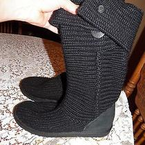 Ugg Black Knit Boots 9 Photo