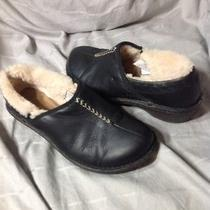 Ugg Black Leather Bettey Insulated Casual Shoes Size 8 - 1928 Guc Photo