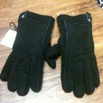 Ugg Black Leather Sheepskin Mens Gloves Size X-Large Nwt Photo