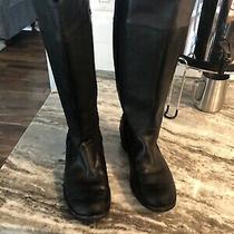 Ugg Black Leather Womens Boots Size 6 Euc Photo