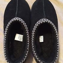 Ugg Black Suede Womens Slippers Very Slightly Used Size 10 Photo