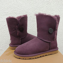 Ugg Blackberry Bailey Button Suede/ Sheepskin Boots Us 8/ Eur 39/ Uk 6.5  Nib Photo