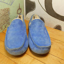 Ugg Blue Suede Slippers Men's 11 Photo