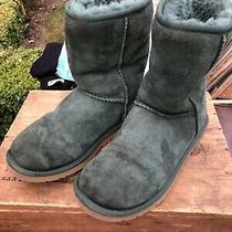 Ugg Boots  Green Suede Sheepskin Women's Girls Size 5 Uggs Photo