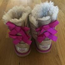 Ugg Boots Toddler Girls Size 9 Bailey Bow Ii Hot Pink Pre-Owned Photo