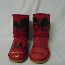 Ugg Boots - Women's Size - 9 - Handpainted - the Beatles - Pre-Own Photo
