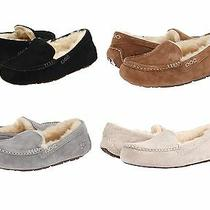 Ugg Brand Women's Ansley Slippers Black Chestnut Grey Suede Casual Shoes Photo