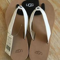 Ugg Brand Womens White Flip Flops Thong Tawney Sandals Shoes Slippers Size 9 Photo
