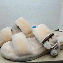 Ugg Bronzer Fuzz Yeah Slide Sheepskin Slipper Sandals Women Us 10/ Eur 41 Nib Photo