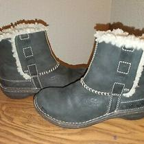 Ugg Brown Leather Fashion Ankle Boots Size 6 Style F19009g Photo