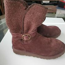 Ugg Brown Suede Sweater Boots With Buckle Strap  Size 6 Women's  Worn Once Photo