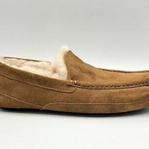 Ugg Brown Suede Wool Slip on Comfort Moccasin Slippers Shoes Mens Us 11 Photo