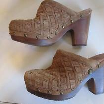 Ugg Brown Woven Clog Heels Size 8. Photo