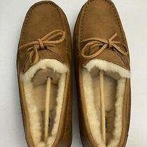 Ugg Byron Men's Wool Leather Sheepskin Slippers Suede Chestnut Size 11 Uggpure Photo