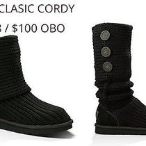 Ugg Cable Knit Boots Black Size 8 Photo