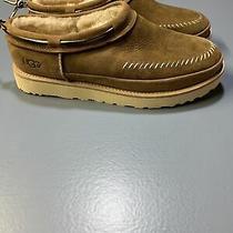 Ugg Campfire Slip on Chestnut Leather Sheepskin Men's Ankle Boots Us Size 11 Photo