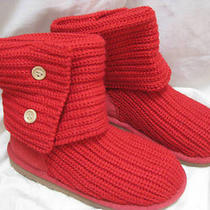Ugg Cardy Red Short or Tall Wood Buttons Girls Size 13 Photo