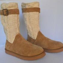 Ugg Cassidee Knit Cuff Uggpure(tm) Lined Buckle Boot Chestnut Size 10 Euc Photo
