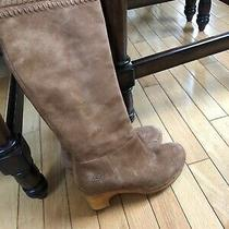 Ugg Chestnut Suede Knee High Boots Size Us 7.5 Womens Photo
