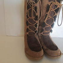 Ugg Childrens Lace Up Boots Size 3 Photo
