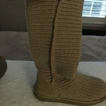 Ugg Classic 5817 Crochet Tall Sand Boots Size 8  Photo