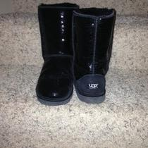 Ugg Classic Black Sequin Womens Boots Sz 9- Euc- Photo